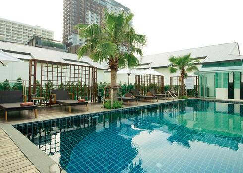 Thaif�ld, Pattaya: Sunshine Hotel & Residence 3*+, reggelivel