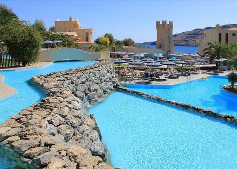 Rodosz, Lindos: Hotel Iberostar Lindos Royal 4*, all inclusive