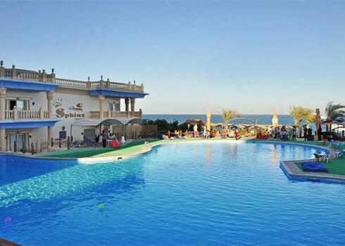 Egyiptom, Hurghada: Sphinx Resort & Aqua Park 4*, all inclusive
