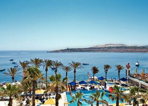Málta, St. Paul`s Bay: Qawra Palace Hotel 4*, all inclusive